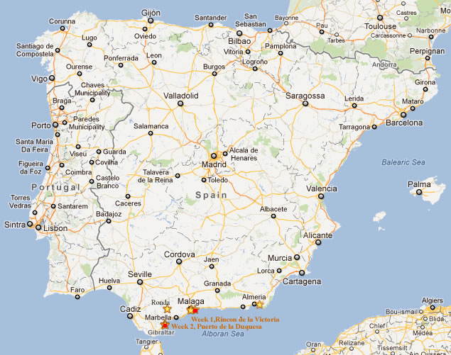 Kids Map Of Spain.Map Of Spain Cossey Locations Travelling Europe With Kids